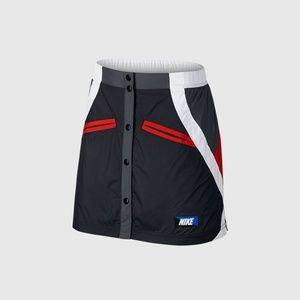Nike Moto Skirt Size XS Mini Mesh Workout Black
